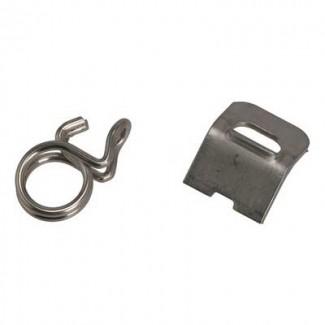 Шланговый зажим, фиксирующая пластина и зажимная пружина (2 части) Jura