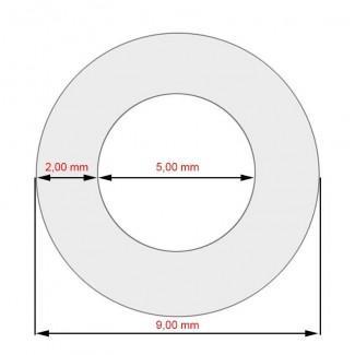Шланг армированный силиконовый, L=100 мм, 5x8,9 мм,