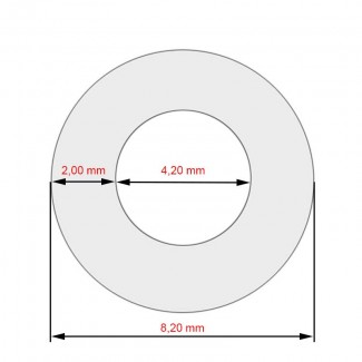 Силиконовый армированный шланг высокого давления 0,5м